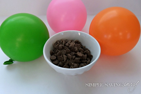 Supplies for DIY Chocolate Dessert Bowls