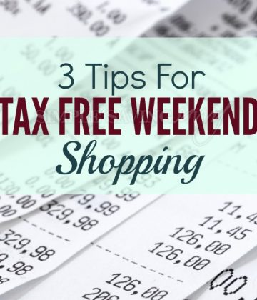 3 Tips For Tax Free Weekend Shopping