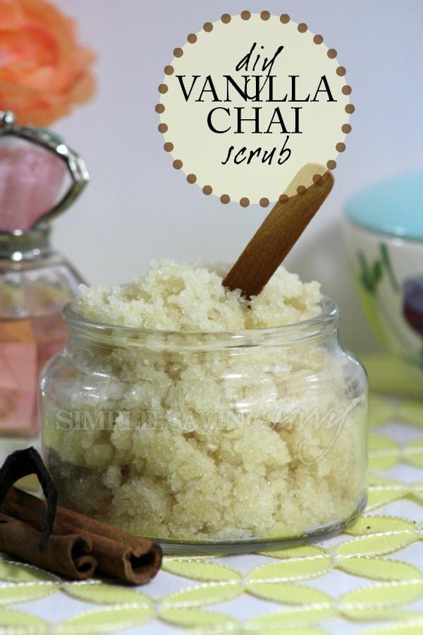 diy vanilla chai scrub with essential oils
